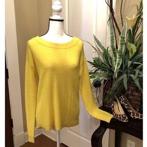 🎉HP🎉 Loft Yellow Hi Low Oversized Sweater